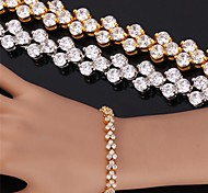 Недорогие -u7® высокое качество красивый кубический циркон 18K реального позолоченные римский браслет браслет для женщин