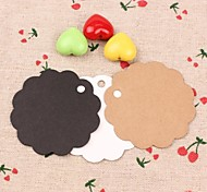cheap -Kraft Paper Round Hang Tags Lables for Bookmark Gift Bakery Packaging Favors Wedding Party Price Cards(Set of 50)
