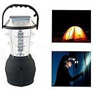 cheap -LS040 Outdoor Solar 36LEDS Hand Crank Dynamo Camping Lantern Light Lamp(Black)