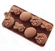 Недорогие -8 отверстие кролика форма пасхальное яйцо торт плесень льда желе формы шоколада