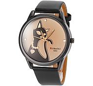 preiswerte -Damen Quartz Armbanduhr Armbanduhren für den Alltag PU Band Charme Modisch Schwarz Weiß Rot Braun