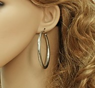 cheap -Women's Stainless Steel Hoop Earrings - Fashion For Wedding Party Daily Casual Sports