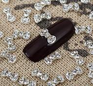 10PCS 3D Bling Crystal Bow Rhinestone Bowknot Nail Art Alloy Jewelry Glossy Manicure Jewellry