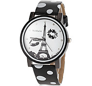 Women's Eiffel Tower Pattern Dial PU Band Quartz Wrist Watch (Assorted Colors) Cool Watches Unique Watches Strap Watch