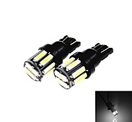 cheap -T10 5W 300LM 6500K 10 x SMD 7020 LED Cool White Car Clearance Lamp / Side Light (12V /2PCS)