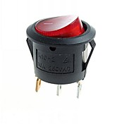 cheap -3-Pin DIY Rock Switch Modules w/ Red LED Indicator - Black (10pcs)