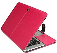 "Case for Macbook Air 13.3"" Solid Color Genuine Leather Material Business Solid Color Newest Leather Foldable Case"