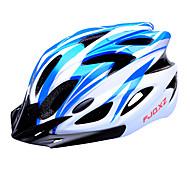 FJQXZ 18 Vents EPS+PC Blue and White Integrally-molded Cycling Helmet(56-63CM)