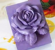 Недорогие -Цветок розы в форме помады торт шоколадный силиконовые формы торт украшение инструменты, l9.3cm * w9cm * h3.8cm