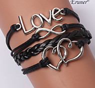 cheap -Women's Leather Infinity Anchor Leather Bracelet Wrap Bracelet - Personalized Unique Design Multi Layer Initial Jewelry Handmade