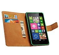 Genuine Leather Wallet Style Case for Nokia Lumia 630(Assorted Colors)