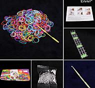 моды ткацких комплект (600pcs резиновые ленты, 1 пакетик С или сек клипы, 1 крюк, 1looms)
