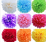 cheap -8 inch Tissue Paper Pom Poms Wedding Party Decor Craft Paper Flowers Wedding(Set of 4)
