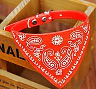 cheap -Dog Collar Collar Bandana Adjustable / Retractable Bandanas PU Leather Black Red Blue Pink