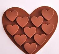 10 Hole Heart Shape Chocolate Molds,Silicone 15.6×14×2.4 CM(6.1×5.5×1.0 INCH)
