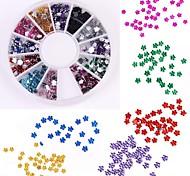 600PCS 12 Color Plum Shaped Diamond Nail Art Decoration