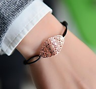 Fashion Women Oval Cut Out Stamping Elastic Bracelet Christmas Gifts