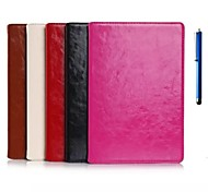 9.7 Inch Two Folding Pattern Genuine Leather Case with Pen for iPad Air 2(Assorted Colors)