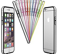 cheap -Case For Apple iPhone 6 iPhone 6 Plus Transparent Bumper Solid Colored Hard PC for iPhone 6s Plus iPhone 6s iPhone 6 Plus iPhone 6