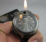 Da uomo Orologio da polso Creativo unico orologio Quarzo accendino Silicone Banda Nero Bianco Nero