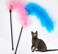 Cat Cat Toy Pet Toys Teaser Feather Toy Bell Textile For Pets