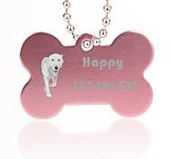персональный подарок форме кости, серебра животное имя ID тегов с цепью для собак