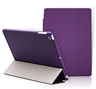 cheap -For Case Cover with Stand Origami Full Body Case Solid Color Hard PU Leather for Apple iPad (2017) iPad Pro 9.7'' iPad Air 2 iPad Air