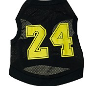 Cat Dog Shirt / T-Shirt Jersey Dog Clothes Sports Letter & Number Black Costume For Pets