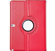 cheap -Case For Samsung Galaxy Samsung Galaxy Case with Stand Flip 360° Rotation Full Body Cases Solid Color PU Leather for Tab 4 10.1