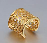 Недорогие -Классические кольца Кристалл Стерлинговое серебро Золотистый Циркон Кисточки Мода Золотой Золото/Розовый БижутерияСвадьба Для вечеринок