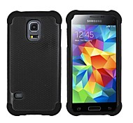 4.5 Inch Ballistic Plastic Hard Back Silicone Rugged Case Cover for Samsung Galaxy S5 mini