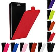 abordables -Coque Pour Samsung Galaxy Samsung Galaxy Note Clapet Coque Intégrale Couleur unie faux cuir pour Note 4