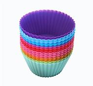 многофункциональный высокая температура круглый силиконовый материал для поделок формы (-60 ~ 240 ℃) (случайный цвет)