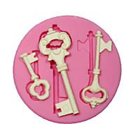 Недорогие -силиконовые формы / форма ключевым стимпанк каркас для рукоделия ювелирные изделия шоколад помады PMC смолы глины