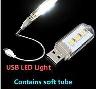 abordables -1pc Luz de noche LED Luz de Lectura LED USB Decorativa 220 V