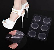 cheap -6PCS Transparent Non-slip Silicone Material  High Heel Shoes Insole for Forefoot Protection