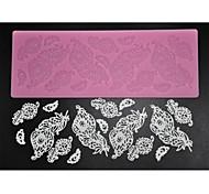 abordables -quatre c dentelle de sucre mat fournitures de décoration de cuisson en silicone moule pour la conception, le silicone mat fondant outils