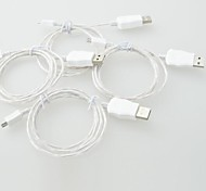 cheap -LED Cable LED Light Micro USB Data Cable Charger Cable for iPhone 5, iPhone 6 (1M, 3FT)