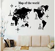 окружающей среды съемный карта наклейке мир стены PVC