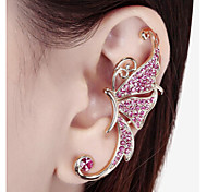 Women's Ear Cuffs Costume Jewelry Rhinestone Alloy Animal Shape Butterfly Jewelry For Wedding Party Daily Casual