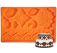 FOUR-C Силиконовые формы цветка помады и sugarpaste мат, торт поставки помадные коврик инструменты резинки паста коврик торт