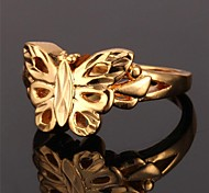 U7® Cute Hollow Butterfly Ring 18K Real Gold Plated Ring For Women Fashion Jewelry for Women High Quality