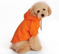Cani Felpe con cappuccio Arancione Abbigliamento per cani Primavera/Autunno Vacanze