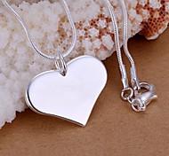 Недорогие -Женский Любовь Мода Ожерелья с подвесками Стерлинговое серебро Ожерелья с подвесками , Свадьба Для вечеринок Повседневные
