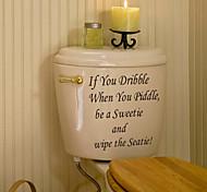 Недорогие -Наклейки и ленты Бутик ПВХ 1шт - Ванная комната Другие аксессуары для ванной комнаты