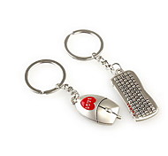 Keybord Mouse Romantic Wedding Key Ring Keychain for Lover Valentine's Day(One Pair)