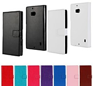 PU Leather Full Body Protective Case with Stand and Card Slot for Nokia Lumia 930 (Assorted Colors)