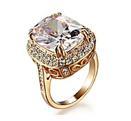 cheap -Women's Crystal Crystal / Gold Plated / Imitation Diamond Statement Ring - Luxury Golden Ring For Wedding / Party / Daily