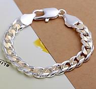 European Fashion Color separation 925 Silver Chain Bracelets(1Pc) Christmas Gifts