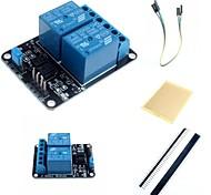 Недорогие -2-канальный электрический релейный модуль расширения релейная плата с оптопары и аксессуаров для Arduino